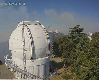 Smoke around Lick Observatory