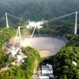 305-meter dish at the Arecibo Observatory, the world's largest radio telescope .NAIC