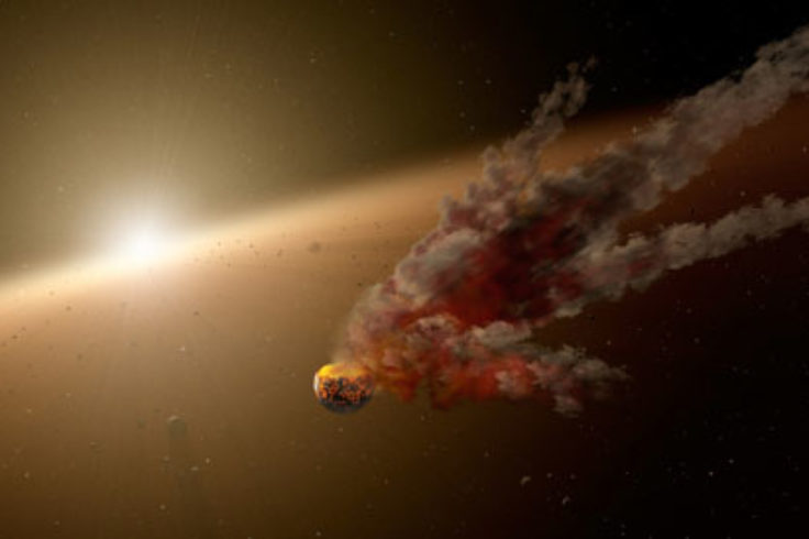Asteroid breakup (artwork)