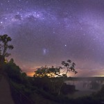 Milky Way and Magellanic Couds over Iguaçu Falls