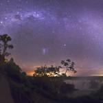 Milky Way and Magellanic Couds over Iguaçu Falls