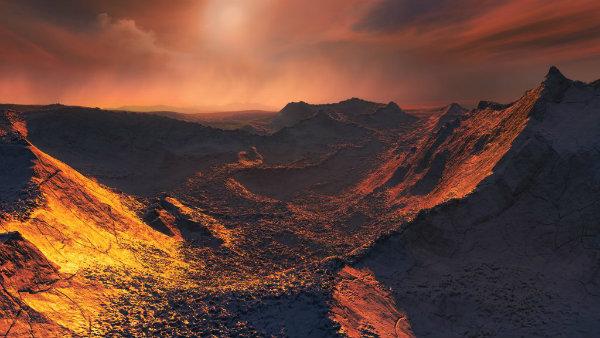 Surface of Barnard's star's planet (art)