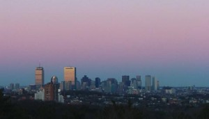 Belt of Venus over Boston