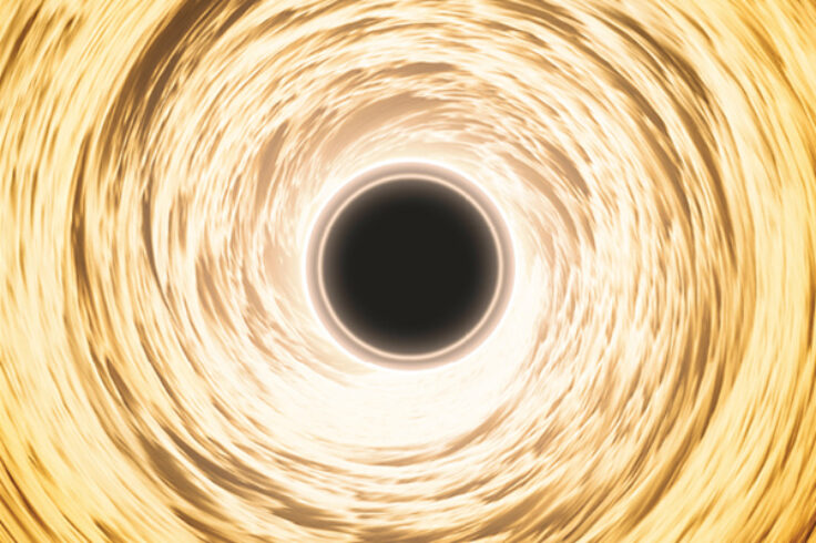 supermassive black hole with accretion disk