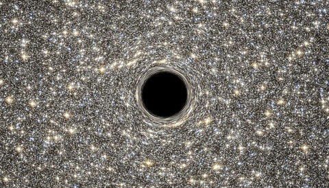 It's impossible to see inside a black hole