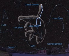 The Big Dipper asterism in the constellation Ursa Major.  Starry Night Software / A.Fazekas