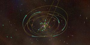 black-hole-at-center-of-galaxy-orbiting-stars