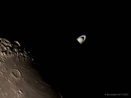 Saturn Emerging from Behind the Moon