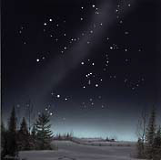 Winter constellations seen in a class 4 or 5 sky