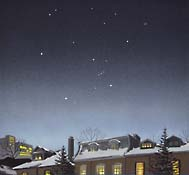 Winter constellations seen from class 8 or 9