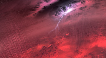 Clouds on a brown dwarf