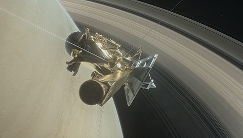 Cassini Spacecraft successfully penetrates through Saturn's Rings