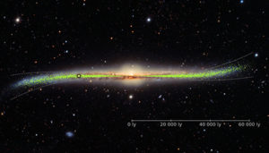 warped galaxy disk