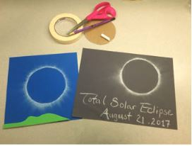 Solar Eclipse Activities - Chalk Art