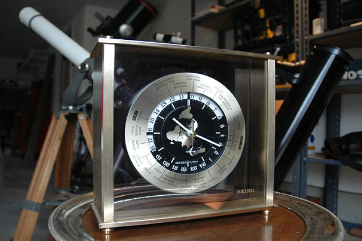 24-hour clock with telescopes