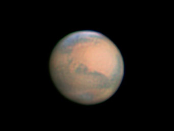 By the evening of Jan. 20th Mars was distinctly gibbous and down to 12″ wide.