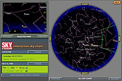 Sky Chart Help Sky Telescope - Interactive sky map
