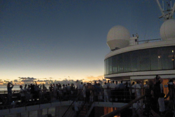 Ship during totality 2009