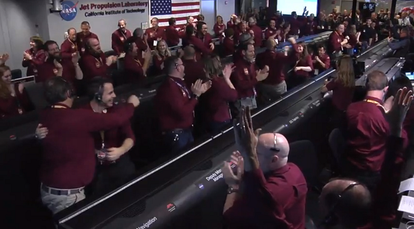 Celebration at mission control