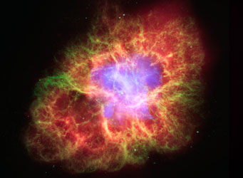 Crab Nebula in multiple wavelengths