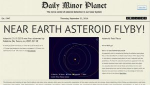 daily minor planet, classic view