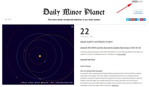 Daily Minor Planet, modern view