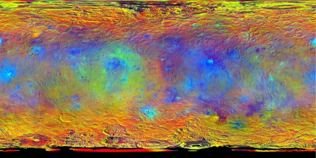 composition of Ceres' surface