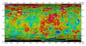 Ceres topographic map from high-altitude orbit