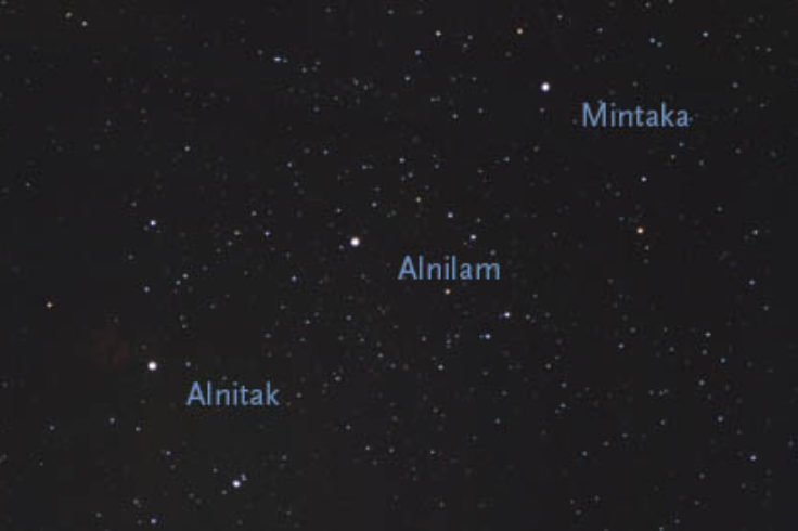 The stars of Orion's Belt