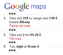 internet mapping directions