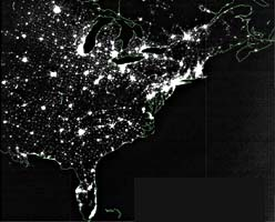 Eastern U.S. at Night