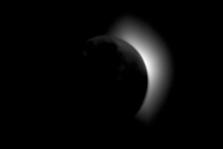 Total solar eclipse seen from Apollo 11