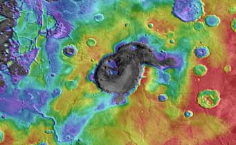 ancient volcano on Mars