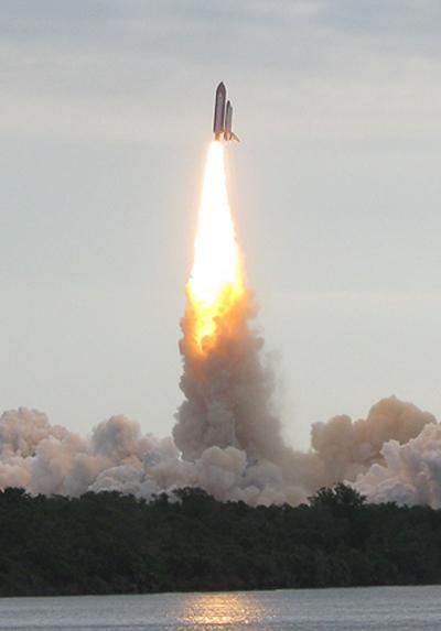Endeavor shuttle launch