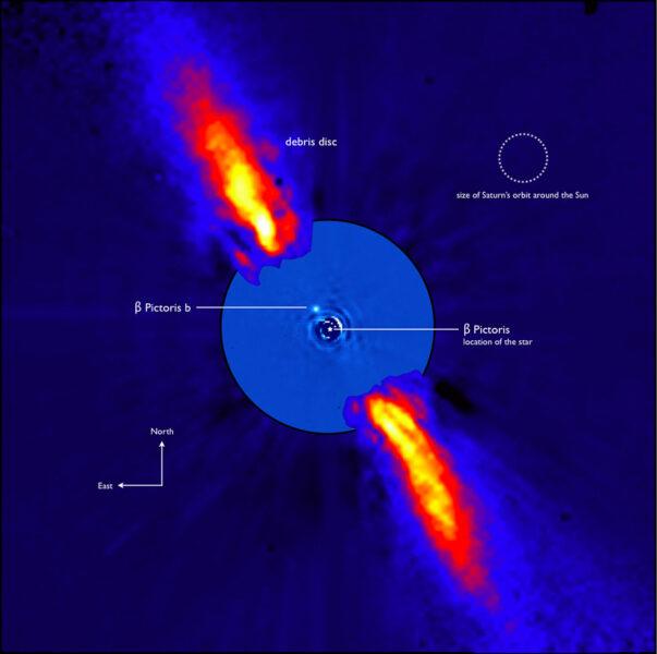 Infrared image of β Pictoris b.
