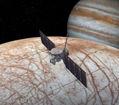 Illustration of Europa Clipper