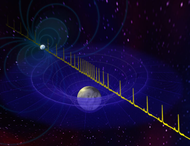 An illustration of a pulsar