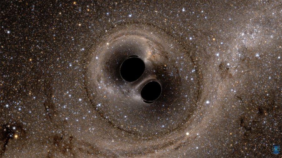 A black-hole binary