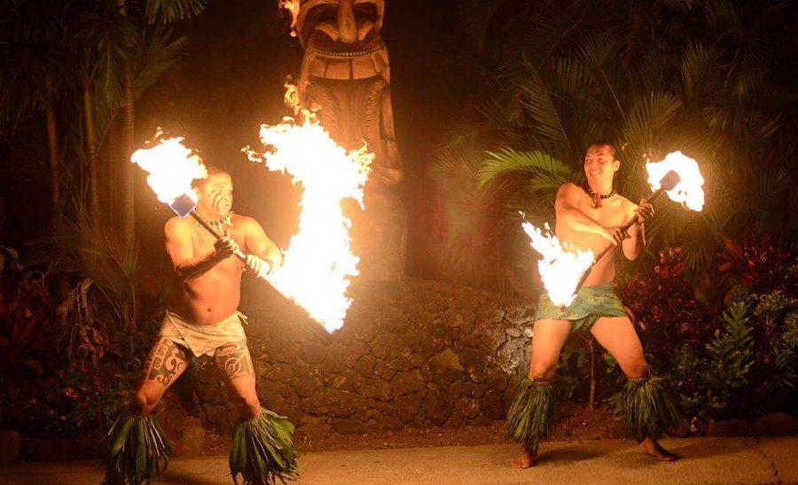 fire dance at luau