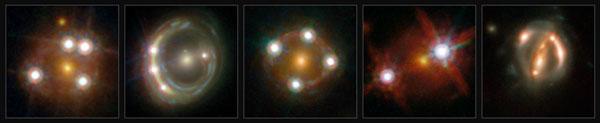 Five gravitationally lensed quasars