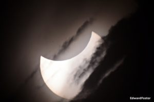 Eclipse and clouds South Africa