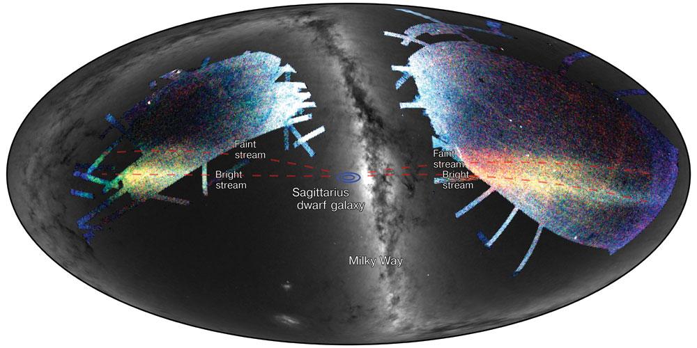 Sagittarius Stream as seen on the sky