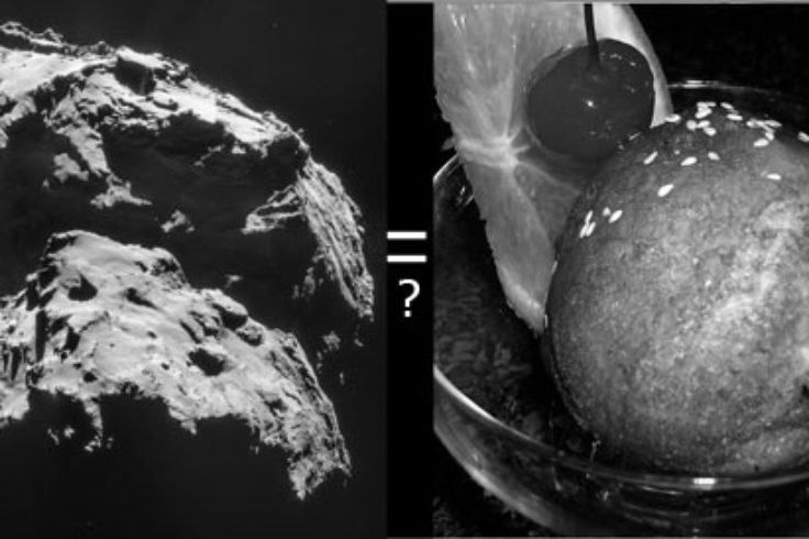 Comet 67P and ice cream