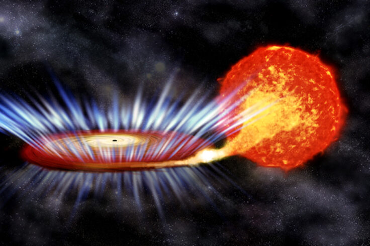 illustration of X-ray binary system