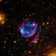 A supernova remnant about 24,000 light years from Earth.