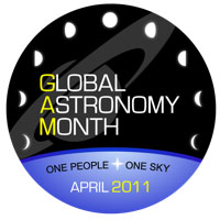 Global Astronomy Month logo