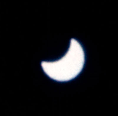 Partial eclipse seen from Gemini XII