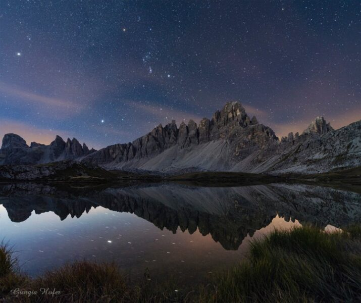 Orion above the Dolomites