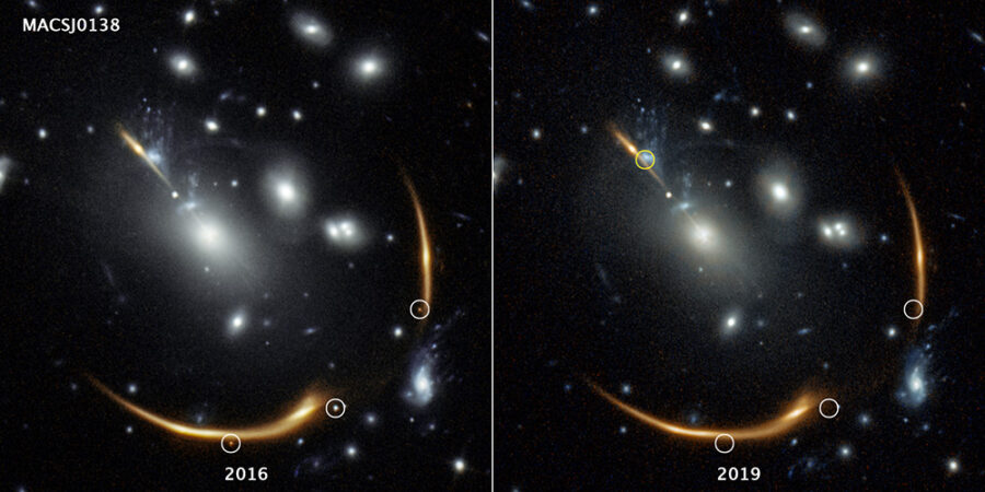Gravitationally lensed supernova, four ways