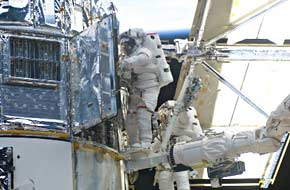 Astronauts with Hubble